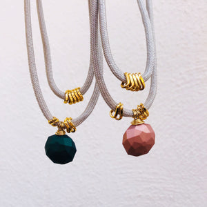 Pink & teal layered necklaces
