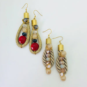 Statement rope earrings