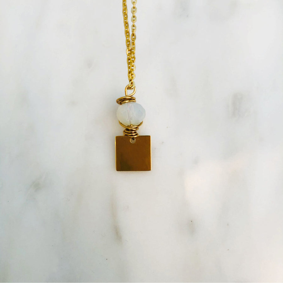 'L' initial chain necklace