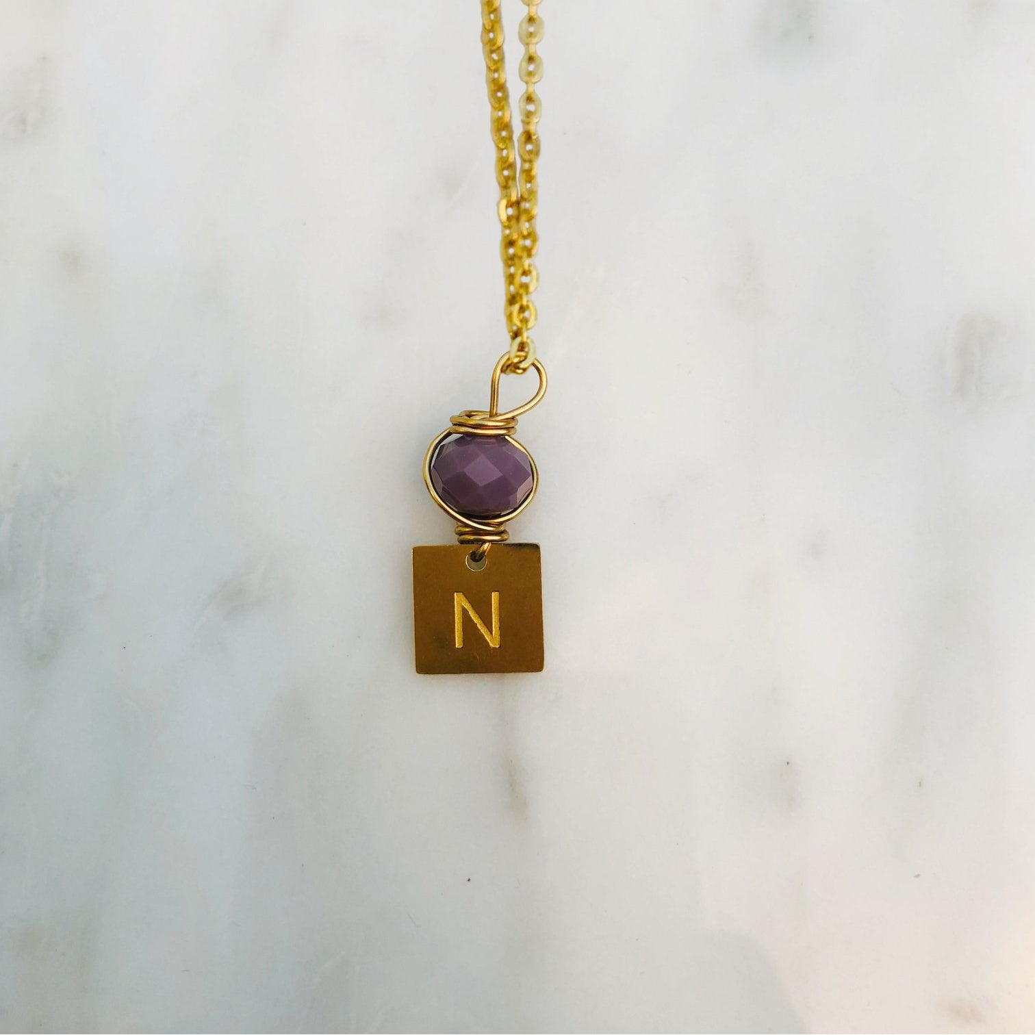 'N' initial chain necklace