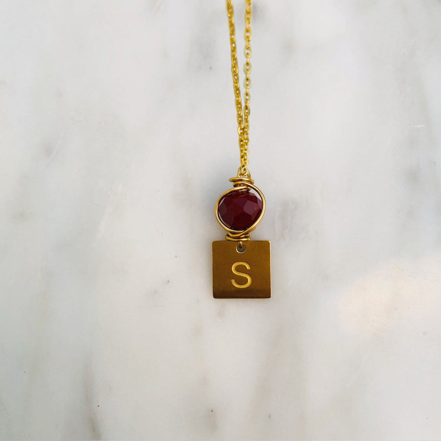 'S' initial chain necklace