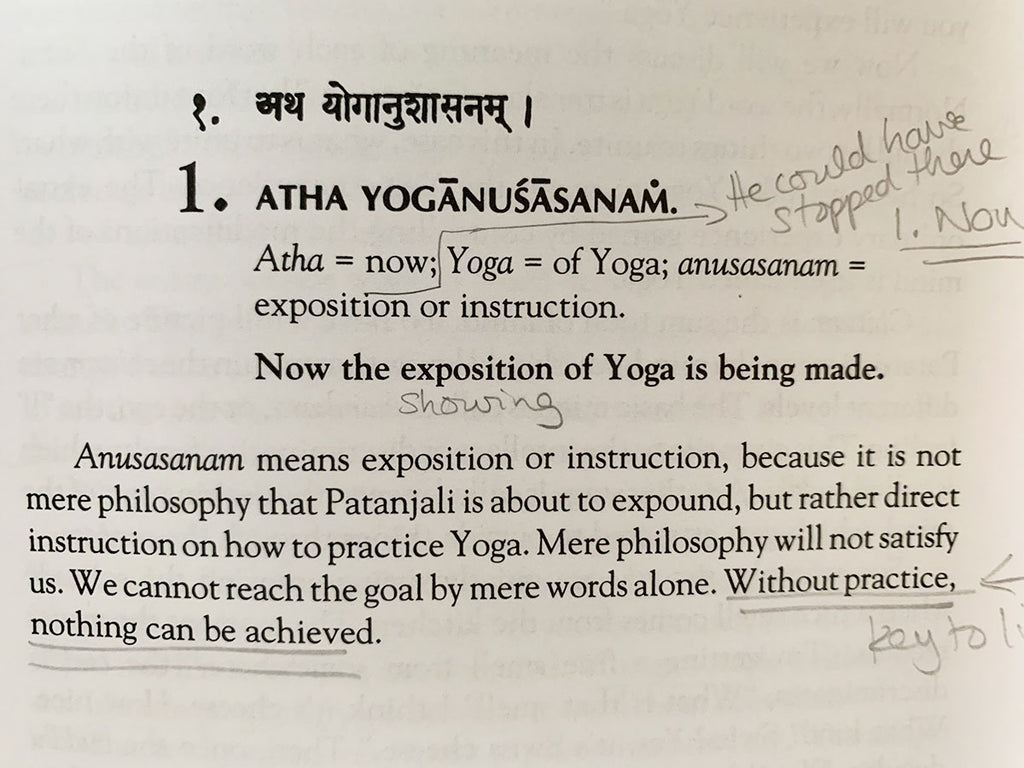 Patangali's Yoga Sutra 1: The Power of Practise