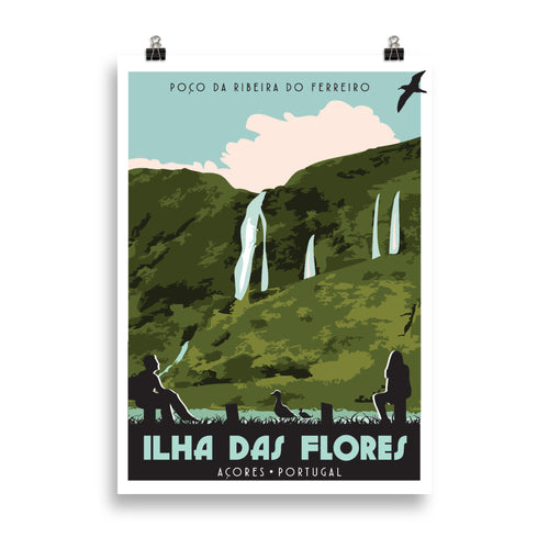 Flores Islands, Azores, Poster