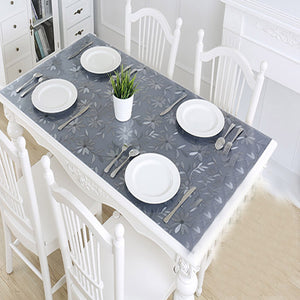 PVC tablecloth transparent D' waterproof with kitchen pattern - Shop at Easy.