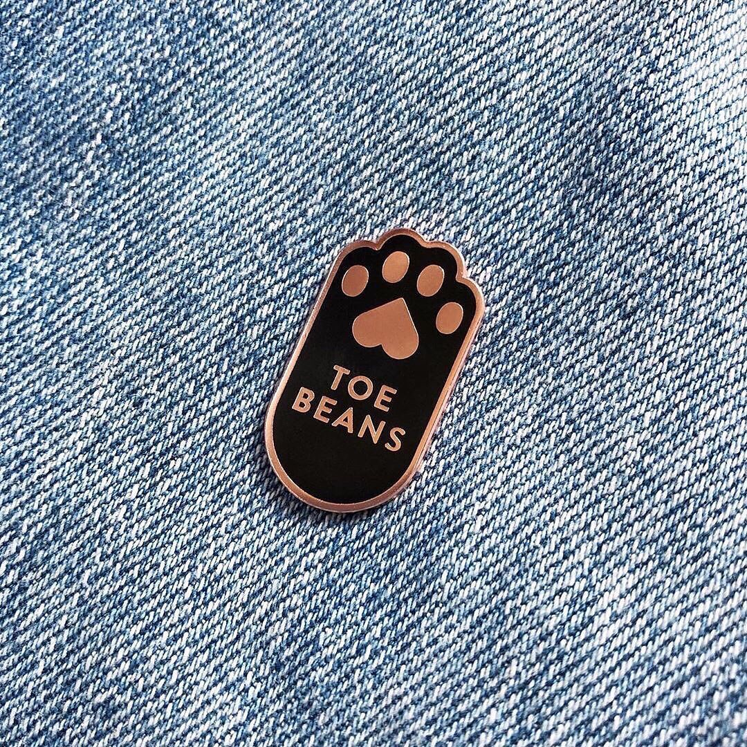 Toe Beans pins from Everyday Olive