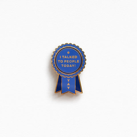 Introvert Award Pin