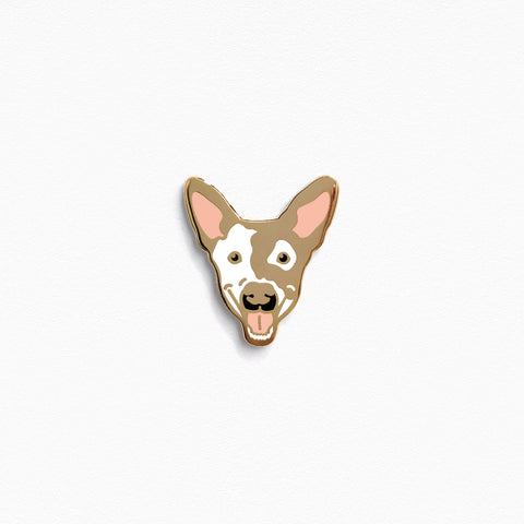 Smiling Pup Pin: Gold Edition