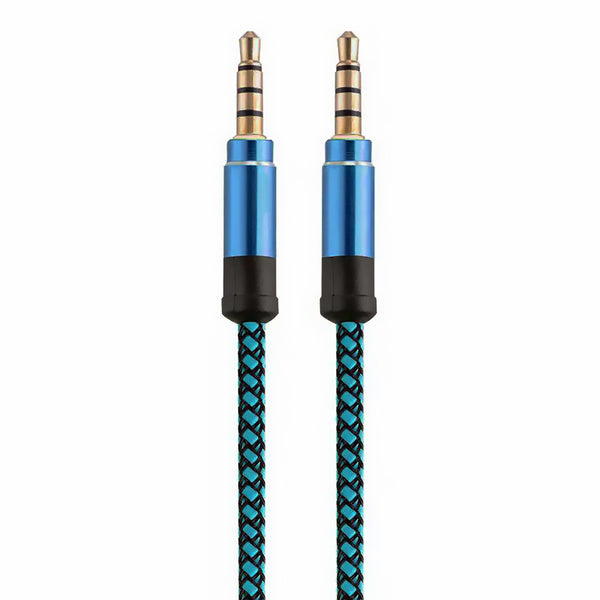 Metallic Blue Aux 3.5mm Cable