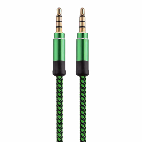 Metallic Green Aux 3.5mm Cable