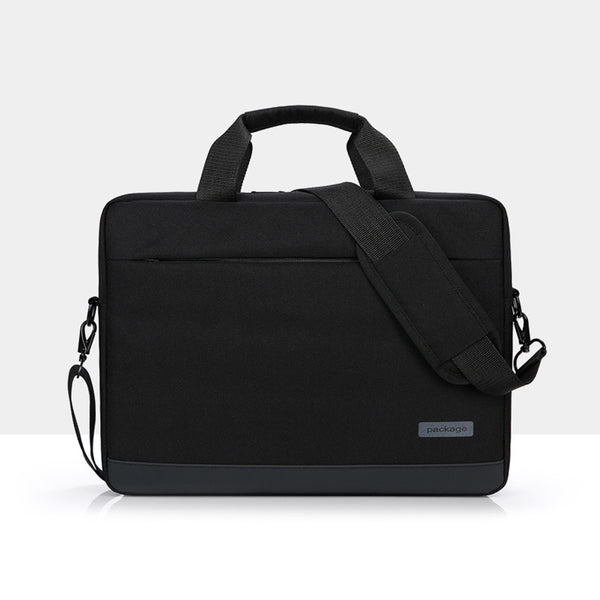 PACKAGE Black Messenger Bag