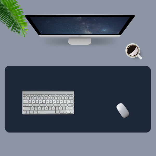 Navy Leather Desk Pad