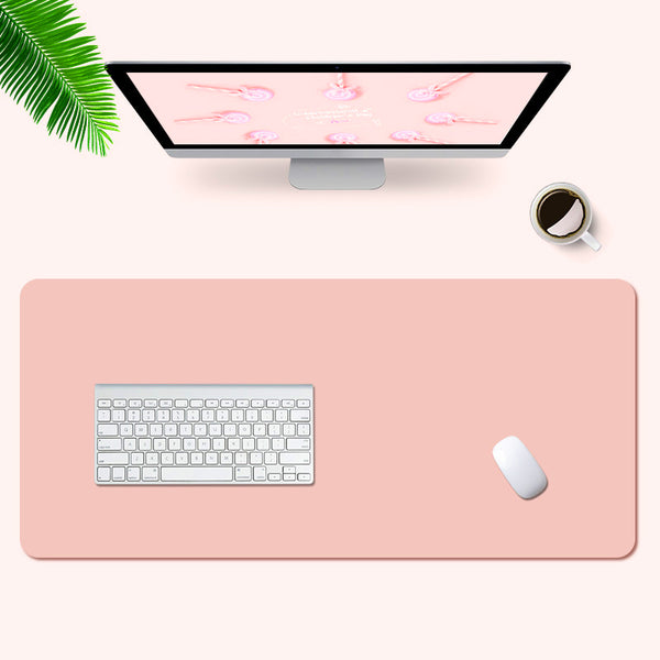 Pink Leather Desk Pad