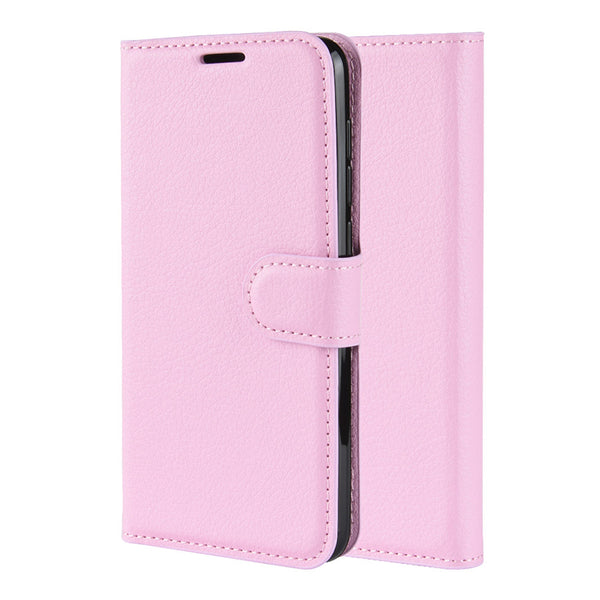 Pink Leather Wallet Case (Galaxy A71)
