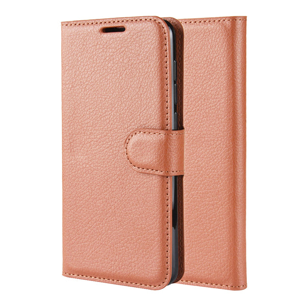 Brown Leather Wallet Case (Galaxy Note 20 Ultra)