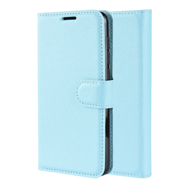 Light Blue Leather Wallet Case (Galaxy Note 20)
