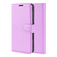Purple Leather Wallet Case (Galaxy Note 20)