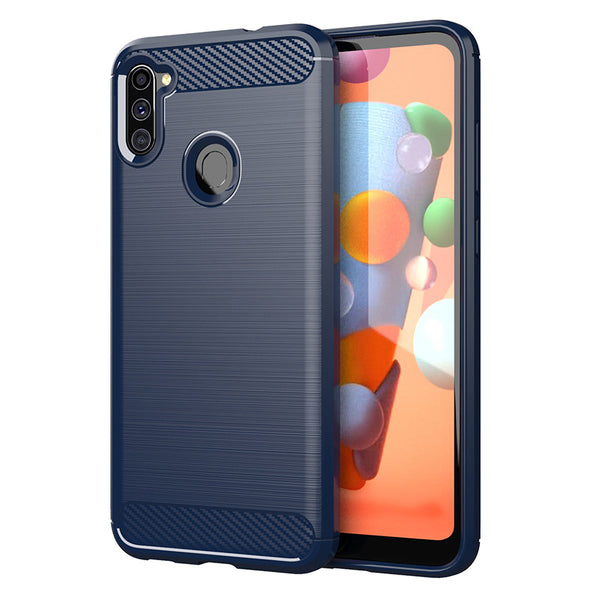 Navy Brushed Metal Case (Galaxy A11)