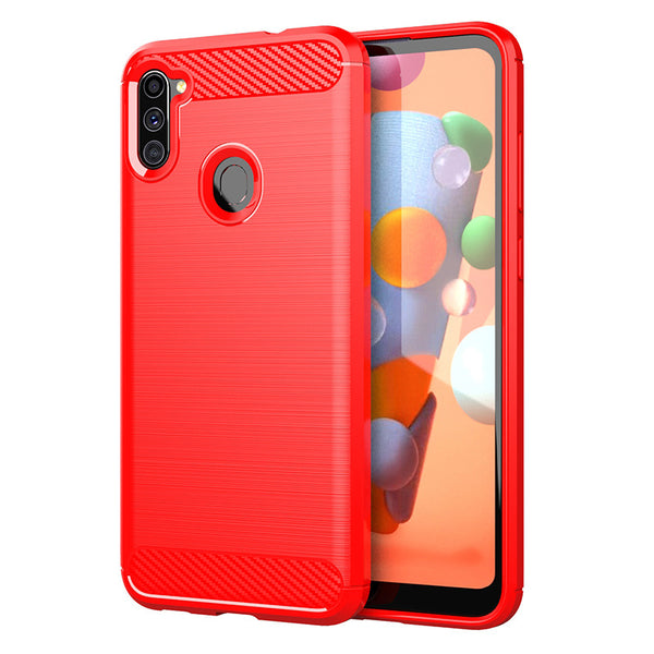 Red Brushed Metal Case (Galaxy A11)