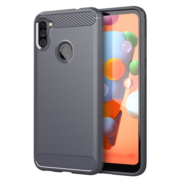 Grey Brushed Metal Case (Galaxy A11)