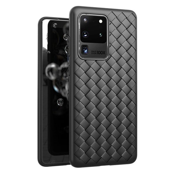 Black Leather Weave Case (Galaxy S20 Ultra)