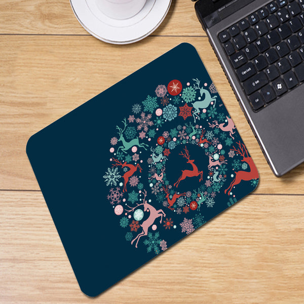 Deer Wreath Mousepad