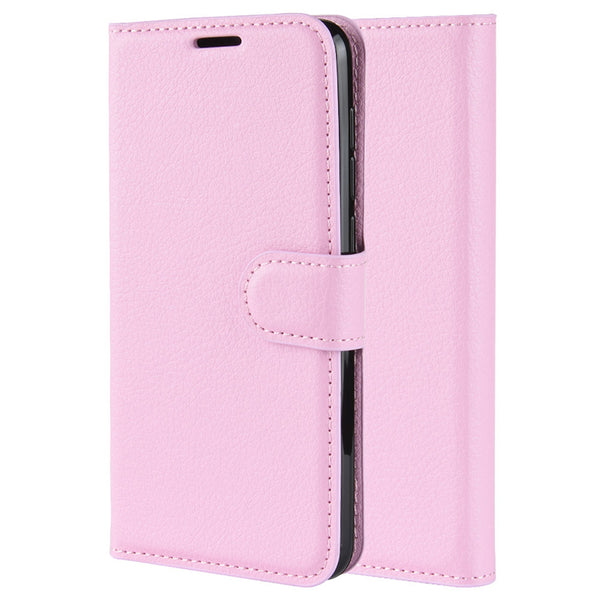 Pink Leather Wallet Case (Pixel 4/4XL)