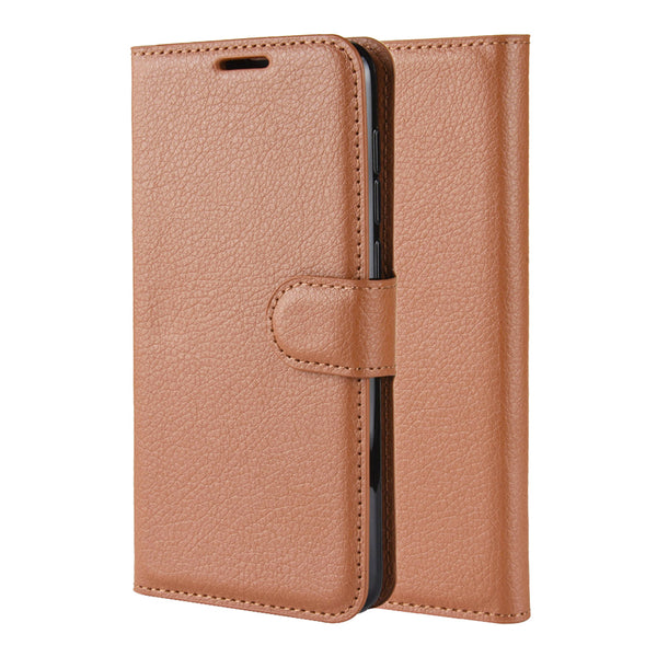 Brown Leather Wallet Case (Pixel 4a)