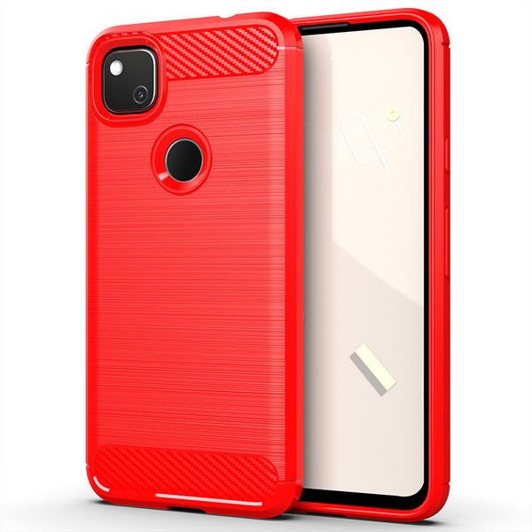 Red Brushed Metal Case (Pixel 4a)