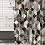 Marble Cubes Shower Curtain