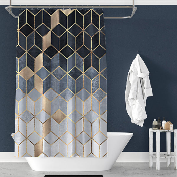 Faded Marble Cubes Shower Curtain
