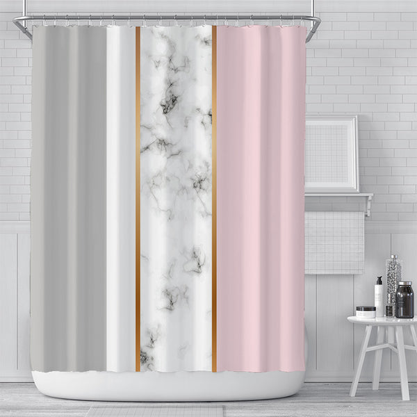 Marble Column Shower Curtain