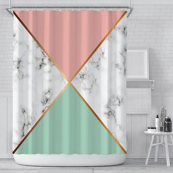 Marble Cross Shower Curtain