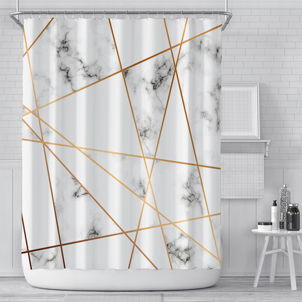 Marble Tessellation Shower Curtain