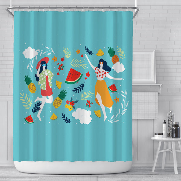 Tropical Party Shower Curtain