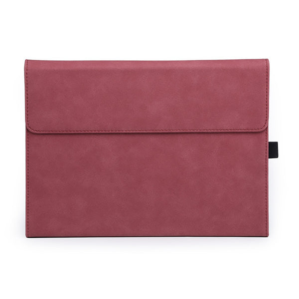 Red Suede Folio Cover Case (Surface Pro 7)