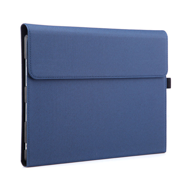 Navy Cross Lattice Folio Cover Case (Surface Pro 7)