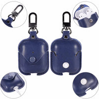 Navy Leather AirPods Case