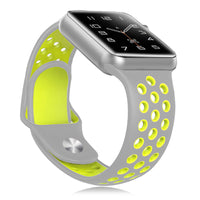 Grey / Lime Apple Watch Strap