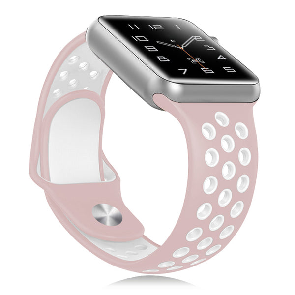 Pink / White Apple Watch Strap