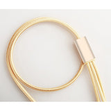 Gold Three In One USB Cable