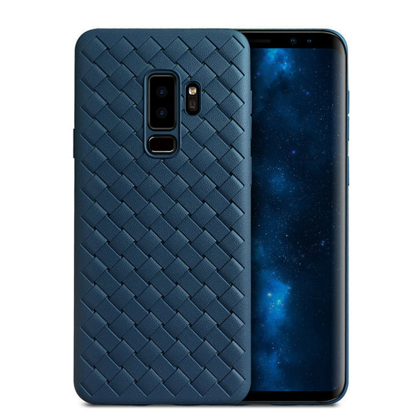 Navy Leather Weave Case (Galaxy S9/S9+)