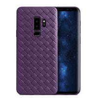 Violet Leather Weave Case (Galaxy S9/S9+)