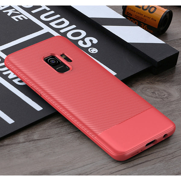Red Carbon Fiber Case (Galaxy S9/S9+)