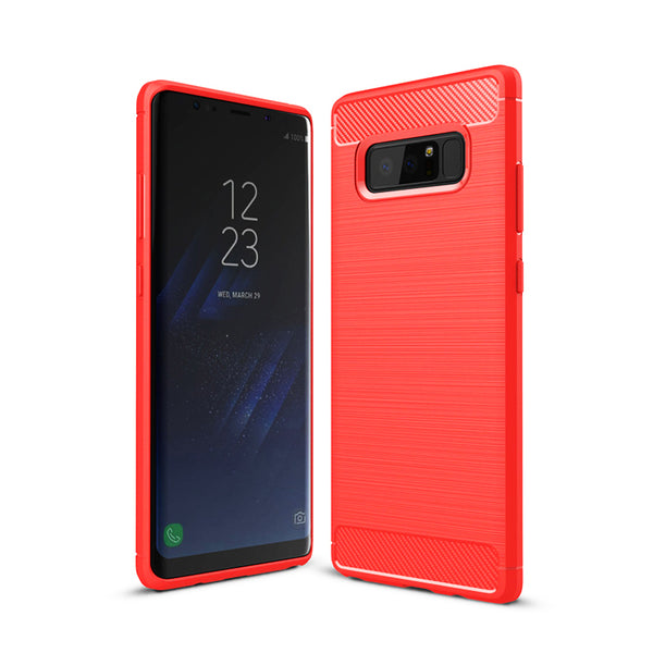 Red Brushed Metal Case (Galaxy Note 8)