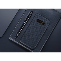 Black Leather Weave Case (Galaxy Note 8)