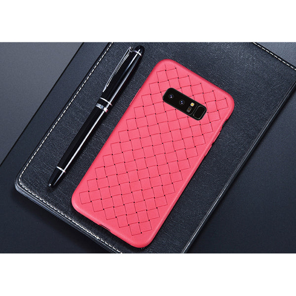 Red Leather Weave Case (Galaxy Note 8)