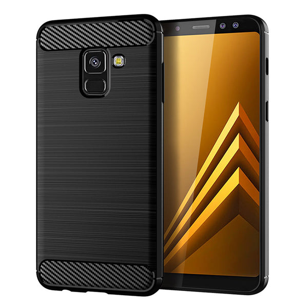 Navy Brushed Metal Case (Galaxy A8)