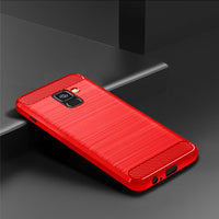 Red Brushed Metal Case (Galaxy A8)