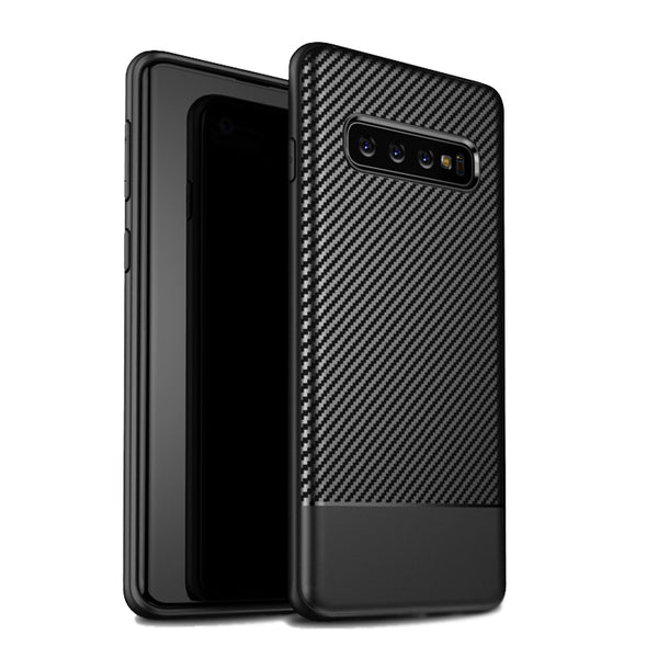 Black Carbon Fiber Case (Galaxy S10/S10e/S10+)