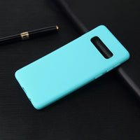 Matte Mint Blue Soft Case (Galaxy S10/S10e/S10+)